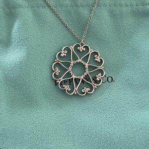 💎2 X HOSTS PICK💎Tiffany & Co. Venezia Goldoni Medallion Silver Necklace